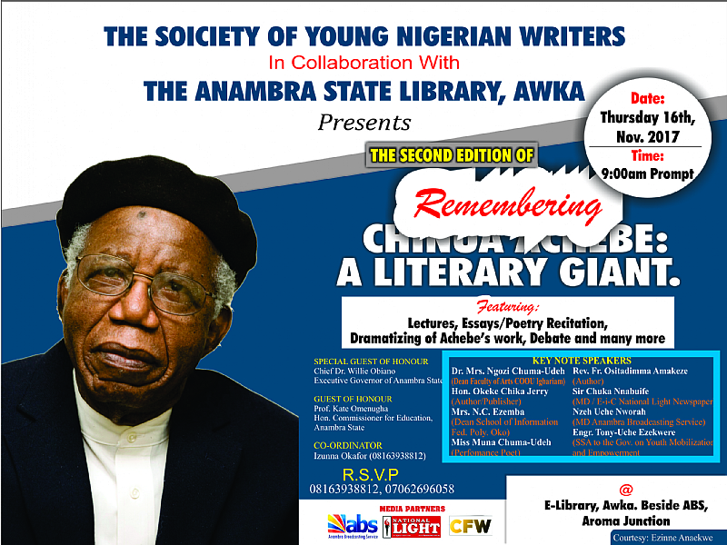 Countdown: Young Writers Set To Celebrate Achebe