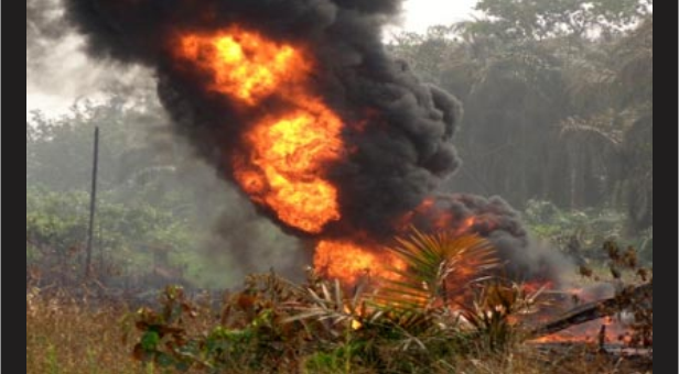 Image result for Militants blow up another pipeline; say Nigerian soldier scared to death, can't swim