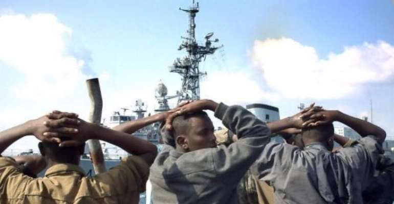 Alleged Somali Pirates Arrested in Gulf of Aden- Pix by AFP