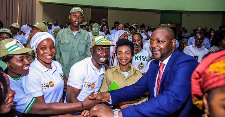 Nigerian Youths With Minister of Youths And Sports
