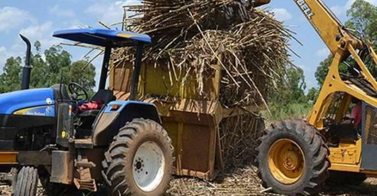 A typical tractor used during harvest.