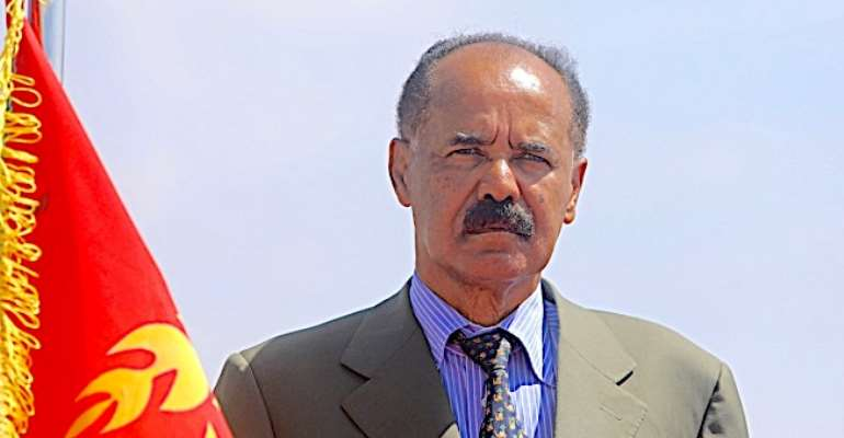 Eritrean President Isaias Afwerki is seen in Mogadishu, Somalia, on December 13, 2018. CPJ recently called on the Canadian government to sanction senior Eritrean officials. (Reuters/Feisal Omar)