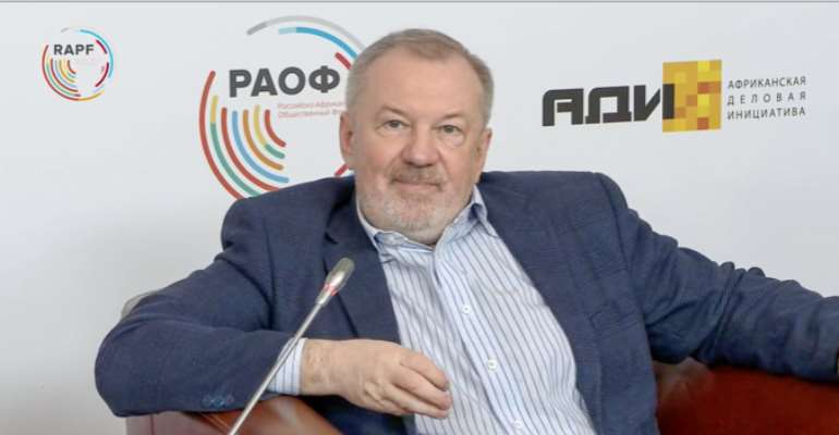 Andrei Bystritsky at the Second Russia-Africa Public Forum