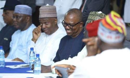 Image result for 15 Presidential Candidates Meet With Atiku, Saraki In Abuja