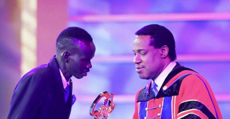 Last night, Sudanese youth leader, Isaiah Deng emerged as the Star Prize winner at the Future African Leaders Award (FALA), an annual African youth leadership award ceremony created by the Loveworld president, Pastor Chris Oyakhilome.