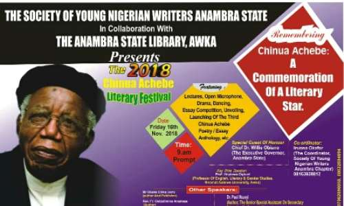 anambra young writers set to celebrate achebe