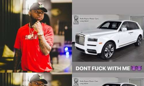 Davido Announces His New Cullinan 2019 Rolls-Royce Worth