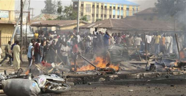 Bomb blasts rocks Konduga fish market ' killing at least 18 people'