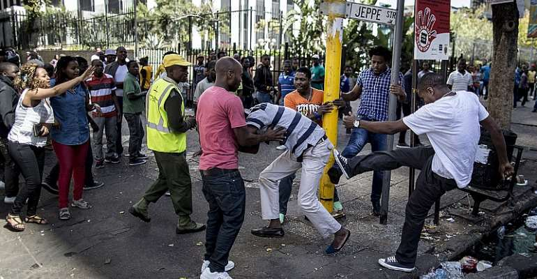 File Photo of Previous Xenophobic Attacks in South Africa