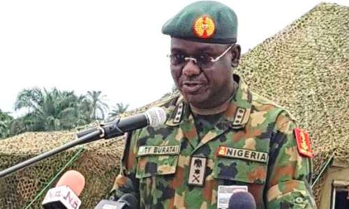Don't glorify terroridts and criminals, Buratai tell journalists