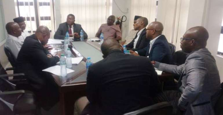​Board Chairman, Engr. Etido Inyang with Board Members and Representatives of General Electric (GE) during the meeting