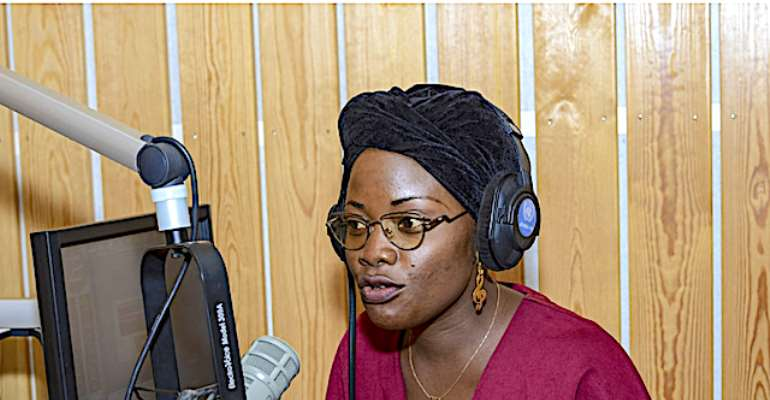 Merveille-Noella Mada-Yayoro, 29, is a journalist and a producer with Guira FMMerveille-Noella Mada-Yayor, journalist and a producer with Guira FM, CAR
