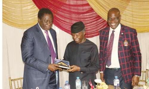 Photo News: The Vice President, Prof  Yemi Osinbajo, GCON, Lays the