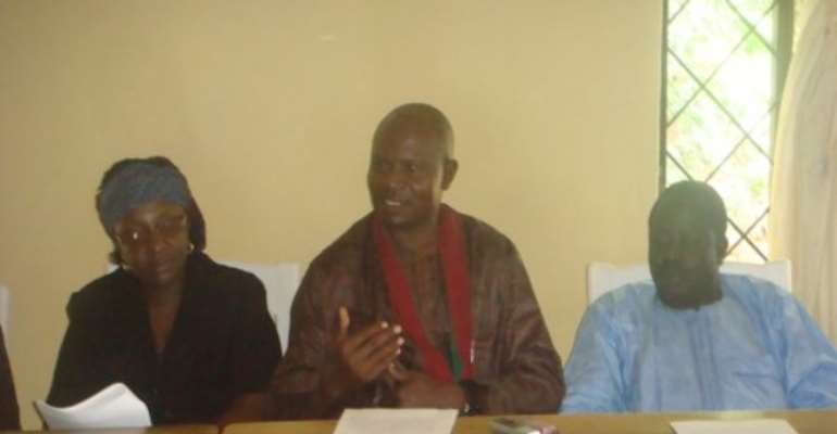 PHOTO: LEADERS OF THE BEROM ETHNIC GROUP AT THE PRESS CONFERENCE.