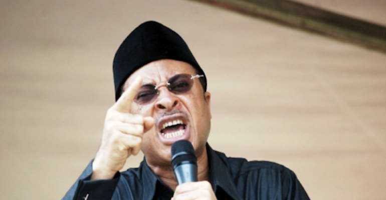 PRESIDENTIAL CANDIDATE OF THE SOCIAL DEMOCRATIC MEGA PARTY, PROFESSOR PAT UTOMI.