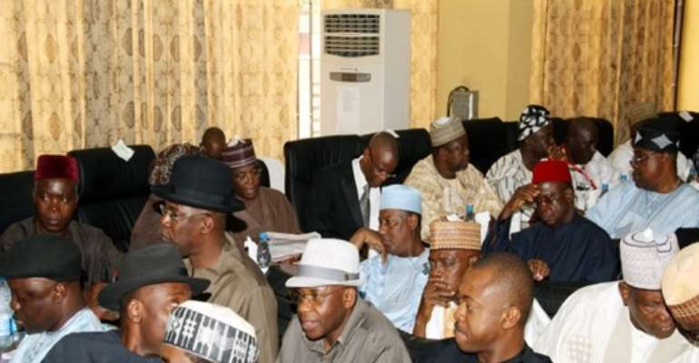PHOTO: SOME NIGERIAN RULING PARTY (PDP) POWERFUL STATE GOVERNORS.