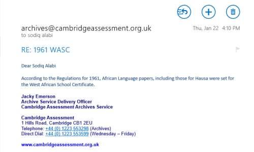 Who Doctored A Cambridge University Response To Hausa Language Exam
