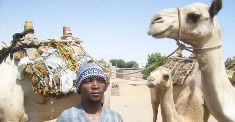 Photo by Abubakar Sematimba/While on fact finding Mission in the Desert of The Sudan
