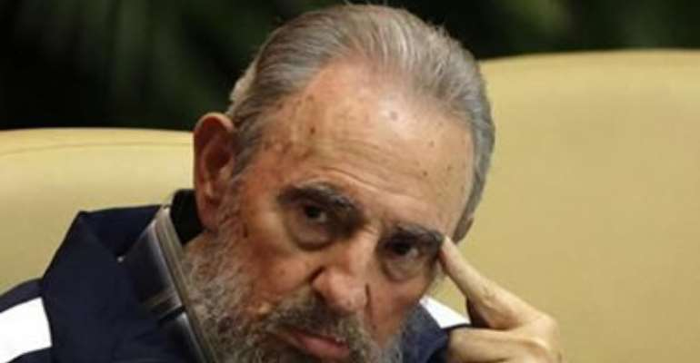 FORMER CUBAN LEADER FIDEL CASTRO ATTENDS THE CLOSING CEREMONY OF THE SIXTH CUBAN COMMUNIST PARTY (PCC) CONGRESS IN HAVANA APRIL 19, 2011.
