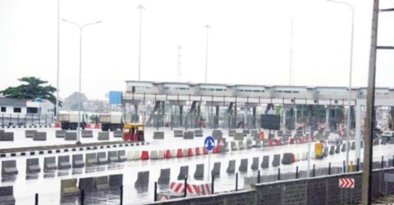 PHOTO: ONE OF THE LEKKI TOLL PLAZAS.