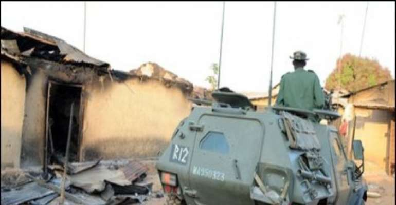 PHOTO: A FILE PHOTO TAKEN DURING THE LAST CRISIS IN JOS.