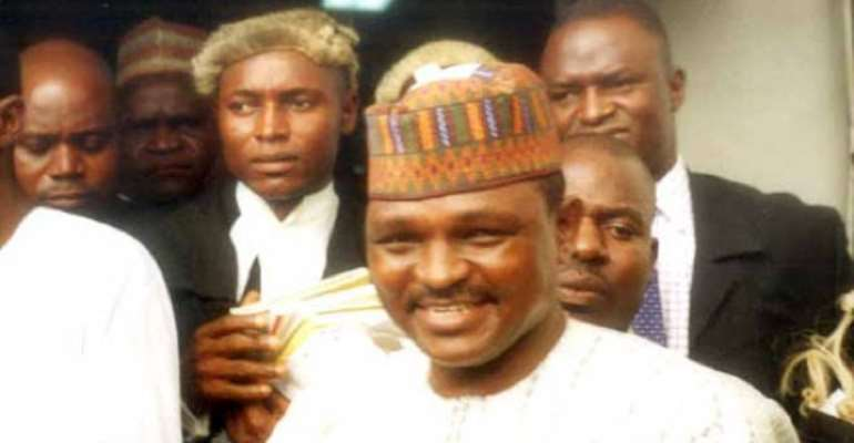 PHOTO: MAJOR HAMZA AL- MUSTAPHA, DETAINED FORMER CHIEF SECURITY OFFICER (CSO) TO NIGERIA'S DECEASED MILITARY DICTATOR, GENERAL SANI ABACHA.
