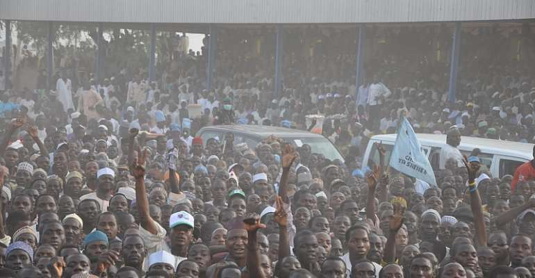 SUPPORTERS OF CPC PRESIDENTIAL CANDIDATE GATHER DURING A RALLY FOR GENERAL MUHAMMADU BUHARI IN KATSINA A FEW DAYS AGO.