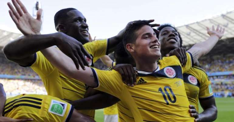 Colombia beats Greece 3-0 in Group C opener