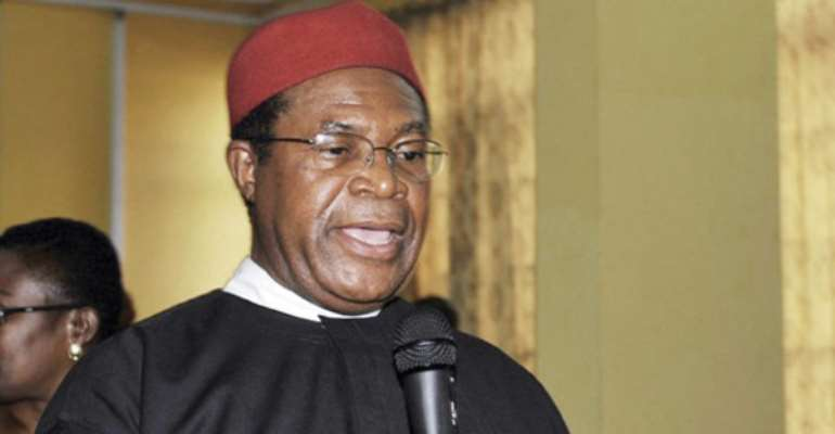 FORMER NATIONAL CHAIRMAN OF THE PDP, DR OKWESILIEZE NWODO.