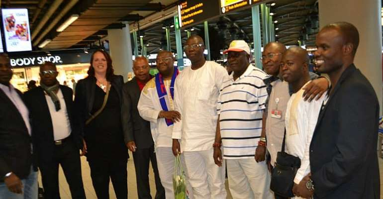 Otunba Gani Adams on arrival in Amsterdam