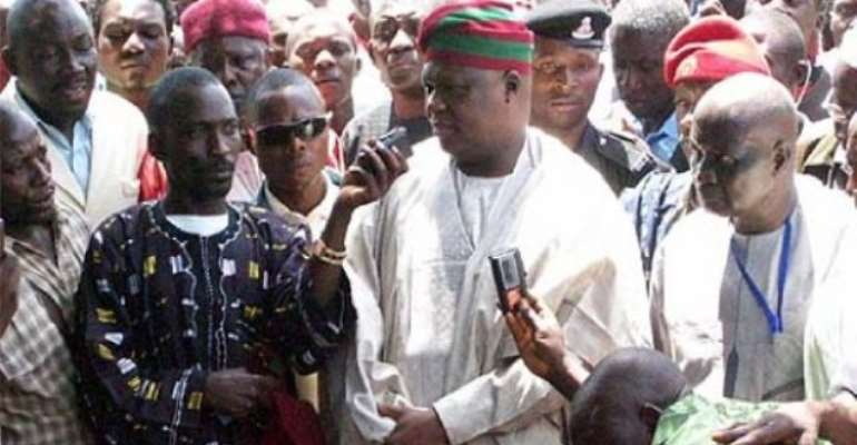 PHOTO: GBONG GWOM JOS, DA GYANG BUBA ADDRESSING JOURNALISTS DURING THE CRISIS.