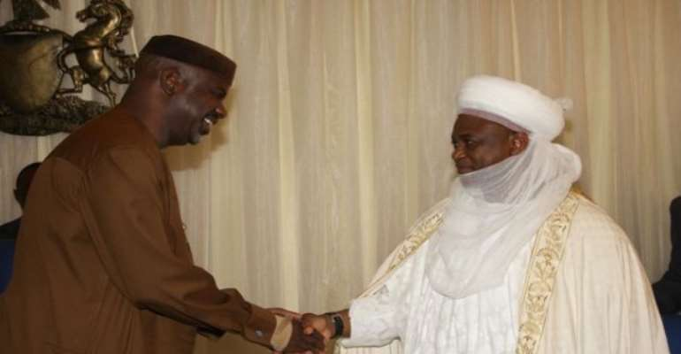 PHOTO: CROSS RIVER STATE GOVERNOR, SENATOR LIYEL IMOKE RECEIVING THE SULTAN OF SOKOTO, ALHAJI DR MUHAMAD SA'AD ABUBAKAR III IN GOVERNMENT HOUSE CALABAR.