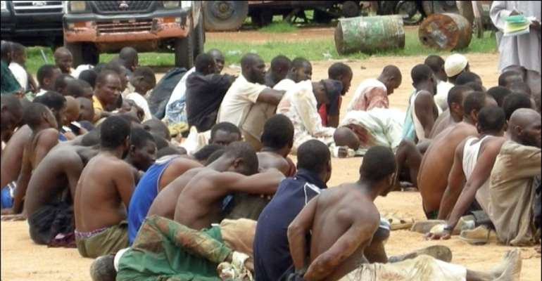 DETAINED MEMBERS OF THE TERRORIST GROUP, BOKO HARAM.
