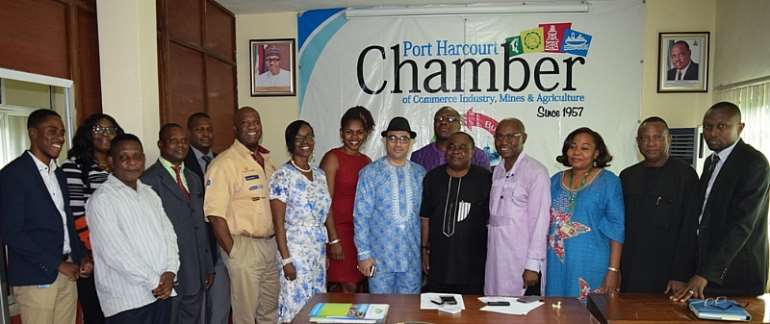 PHCCIMA and NEPC delegation pose for pix
