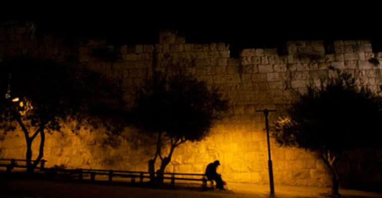 Jerusalem's old city walls. Arabs constitute about 20% of Israel's population, but relationships between Jews and Arabs are rare. Photograph: Uriel Sinai/Getty Images