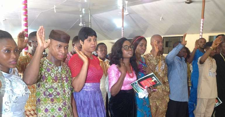 Cross Section Of NUISS EXCO Members Taking Oath Of Office