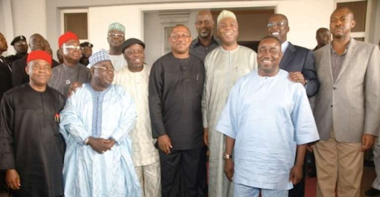 THE GOVERNORS AFTER THE MEETING IN KWARA STATE TODAY, JANUARY 29, 2011.