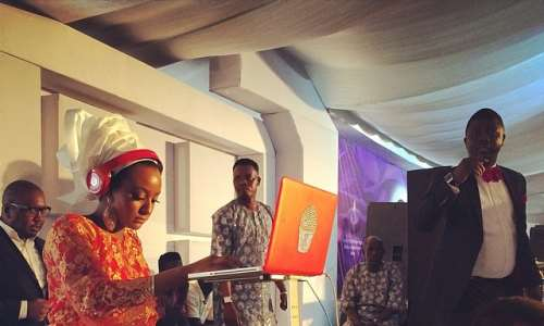 Femi Otedola's Daughter Performs At Grandfather's Burial