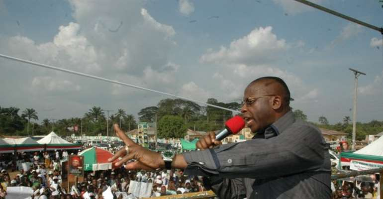 IMO STATE GOVERNOR IKEDI OHAKIM CAMPAIGNS IN ORU EAST LOCAL GOVERNMENT AREA OF THE STATE TODAY, MARCH 16, 2011.