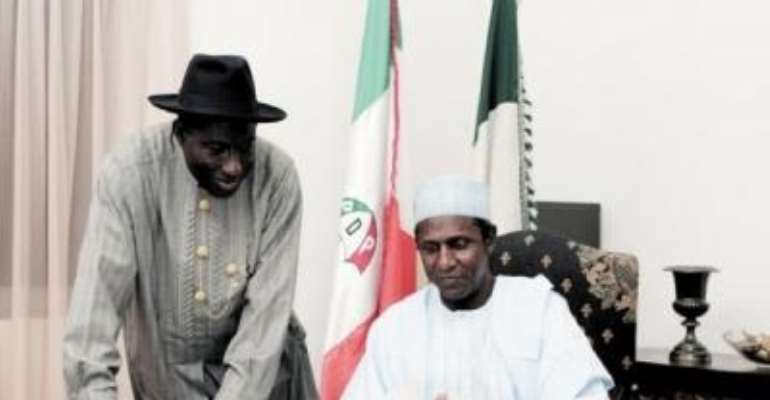 PHOTO: PRESIDENT UMARU YAR'ADUA AND VICE PRESIDENT GOODLUCK JONATHAN.
