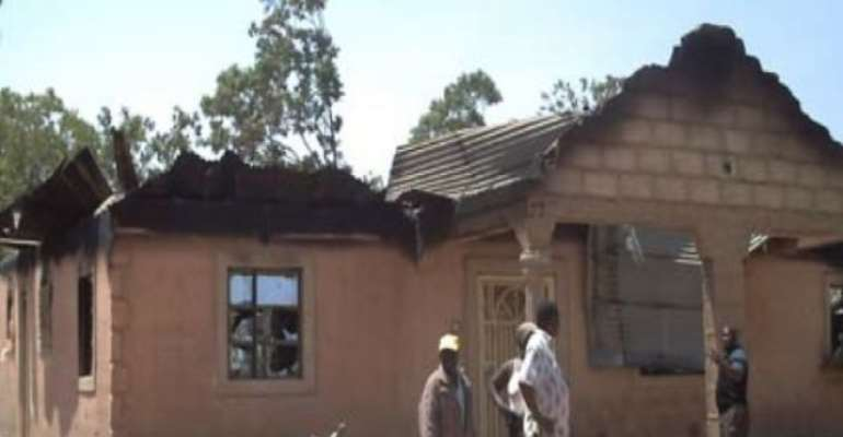 PHOTO: A PROPERTY DESTROYED DURING THE LAST RELIGIOUS CONFLICT IN JOS.