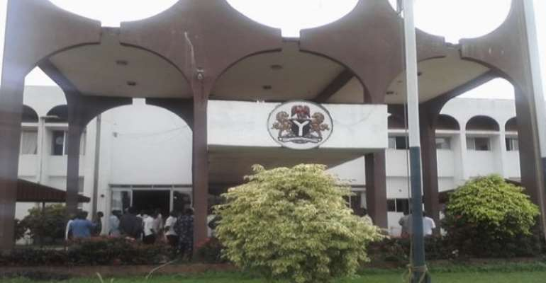 PHOTO: PROTESTING YOUTHS AT THE DELTA STATE HOUSE OF ASSEMBLY TODAY, JULY 20, 2010.