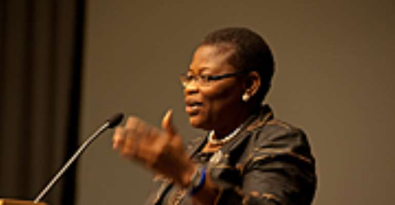 World Bank Vice President for Africa Obiageli Ezekwesili speaks to participants during the Second Diaspora Open House on February 28.