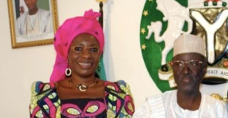 PHOTO: R-L: MR JONAH DAVID JANG, PLATEAU STATE GOVERNOR AND MRS PAULINE TALLEN, DEPUTY GOVERNOR, PLATEAU STATE.