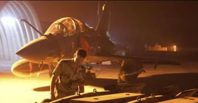 FRENCH MILITARY PREPARES A MIRAGE 2000D FIGHTER PLANE IN N'DJAMENA, CHAD, IN THIS PHOTO RELEASED BY THE FRENCH ARMY COMMUNICATIONS AUDIOVISUAL OFFICE (ECPAD) ON JANUARY 13, 2013