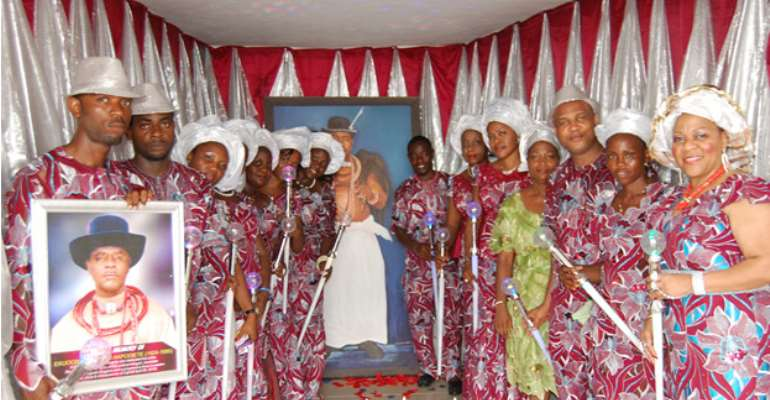 Some of the children of Late Chief Dr. Ekuogbe Akpodiete