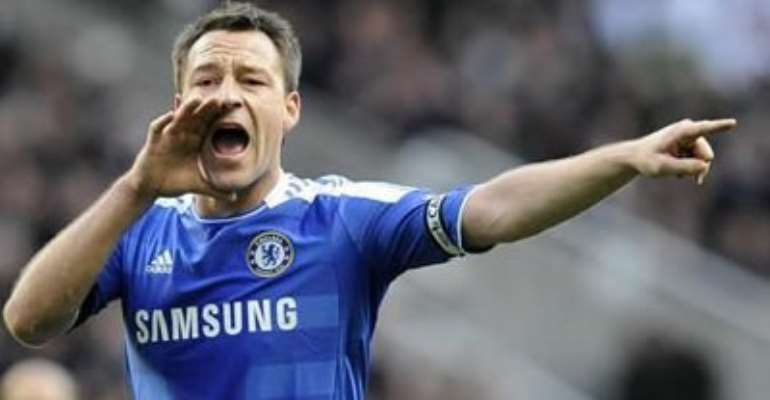 CHELSEA'S JOHN TERRY GESTURES DURING THEIR ENGLISH PREMIER LEAGUE SOCCER MATCH AGAINST NEWCASTLE UNITED IN NEWCASTLE, ENGLAND DECEMBER 3, 2011.