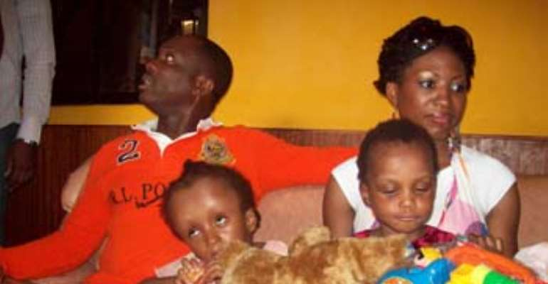 Julius and wife at the charity home