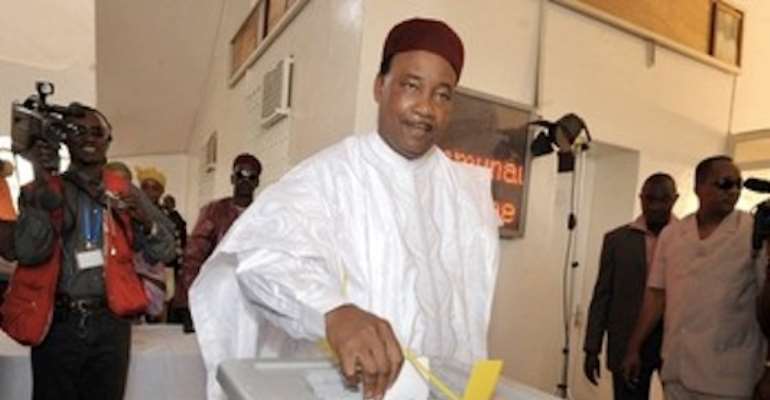 PRESIDENT ELECT OF NIGER, MAHAMADOU ISSOUFOU. PHOTOGRAPH BY GETTY.