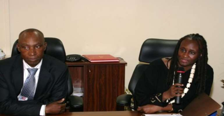 PHOTO: L-R: NNPC GMD, ENGR AUSTEN ONIWON WITH US AMBASSADOR TO NIGERIA, MS. ROBIN SANDERS AT THE CORPORATION'S OFFICE ON TUESDAY, JULY 20, 2010.